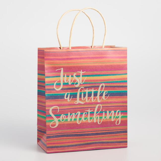 Large Boho Just A Lil Something Special Kraft Gift Bag