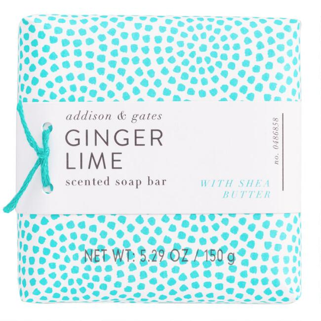 A&G Geo Pop Ginger Lime Bar Soap Set of 2