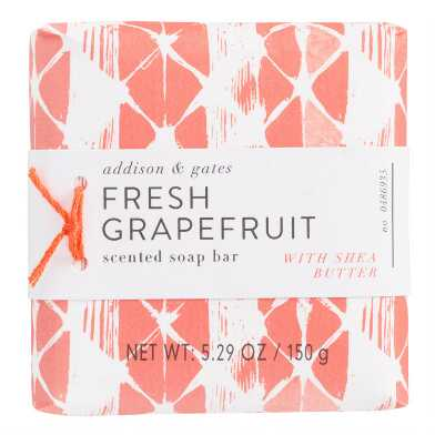 A&G Geo Pop Grapefruit Bar Soap Set of 2