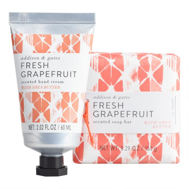 A&G Geo Pop Grapefruit Bath and Body Collection