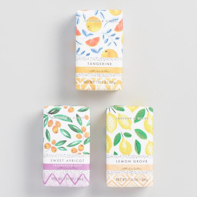 A&G Watercolor Produce Bath and Body Collection