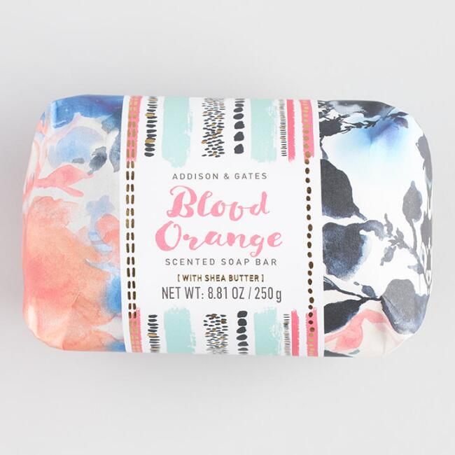 A&G Watercolor Blood Orange Bar Soap
