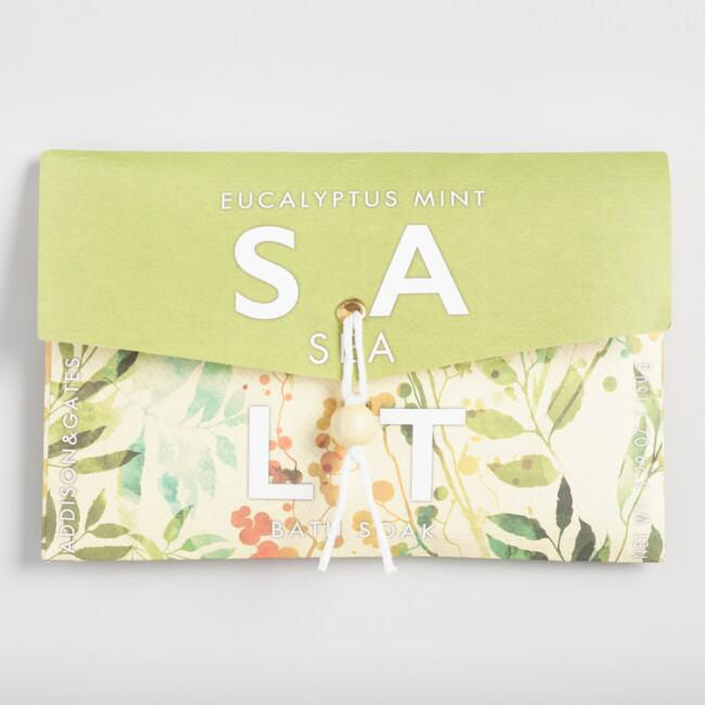 A&G Eucalyptus Mint Bath Salt Envelopes Set of 2