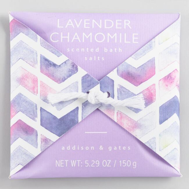 A&G Lavender Chamomile Bath Salt Envelopes Set of 2