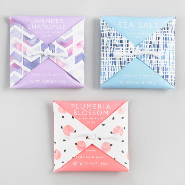 A&G White Sands and Eucalyptus Bath Salt Envelope Collection