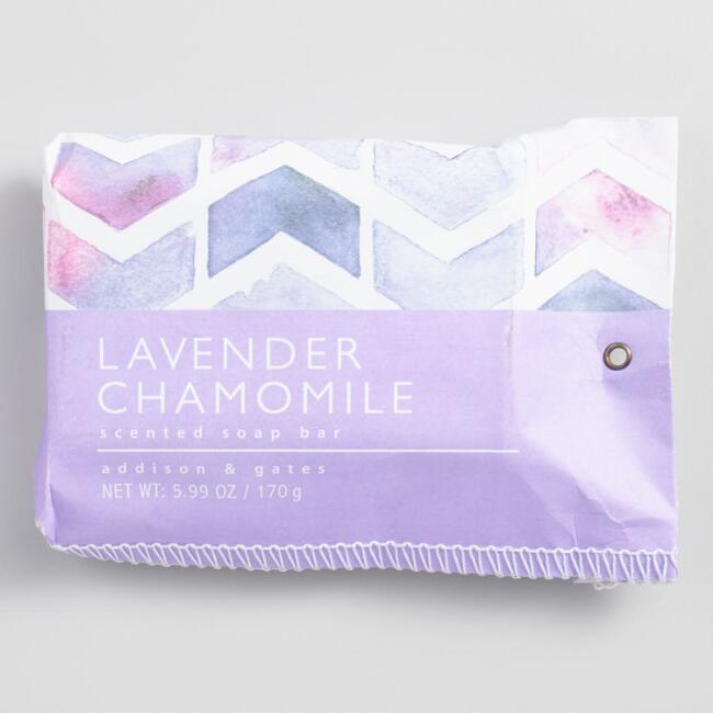 A&G Geo Pouch Lavender Chamomile Bar Soap