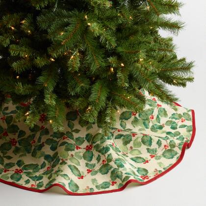 jute anastasia tree skirt - Christmas Tree Skirts