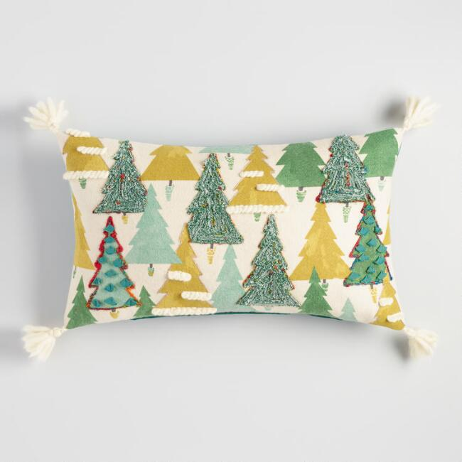 Geometric Forest Lumbar Pillow