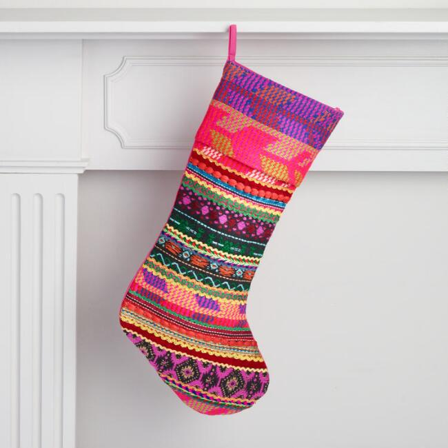 Multicolor Patchwork Stocking