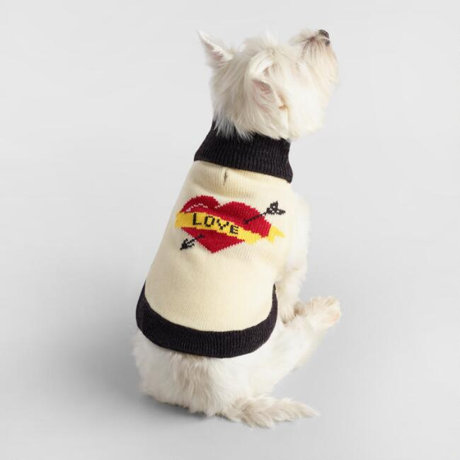 Small Knit Love Dog Sweater