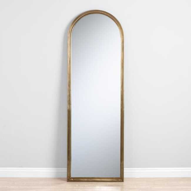 Arched Gold Mirror World Market, Full Length Mirror Oval Top