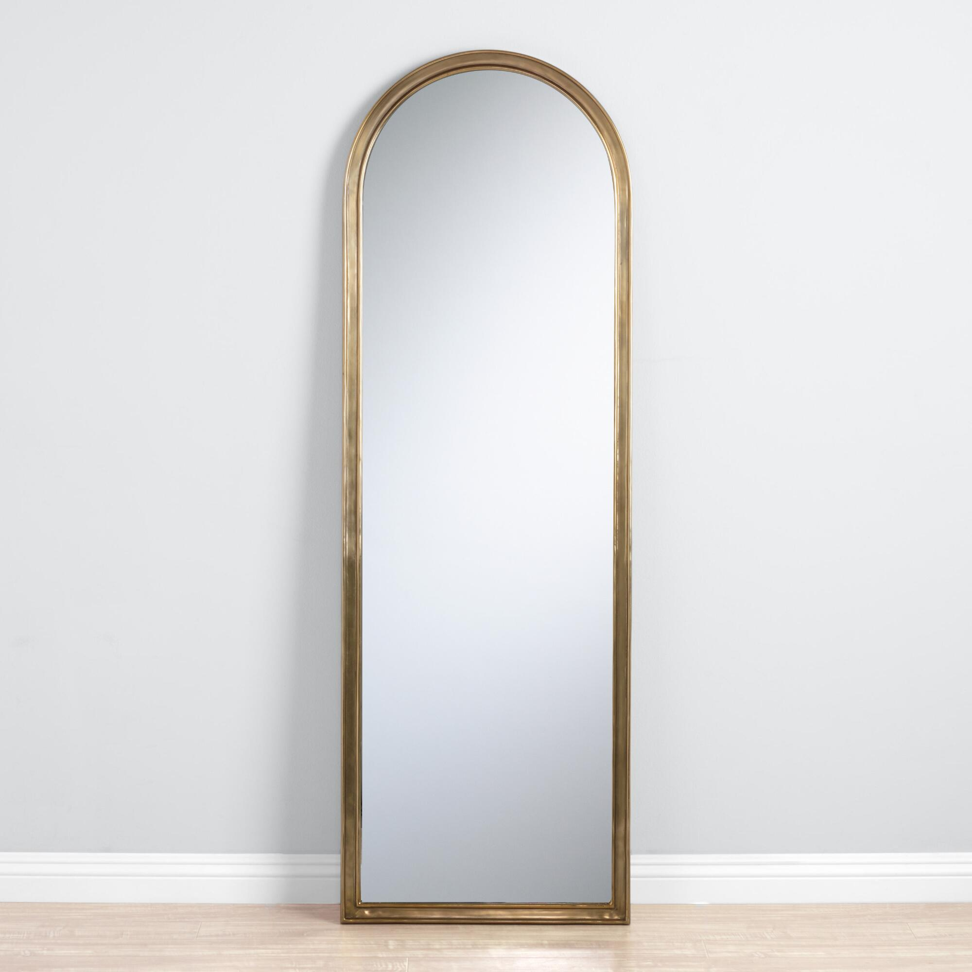 Large mirrors and leaning floor mirrors world market arched gold mirror amipublicfo Gallery