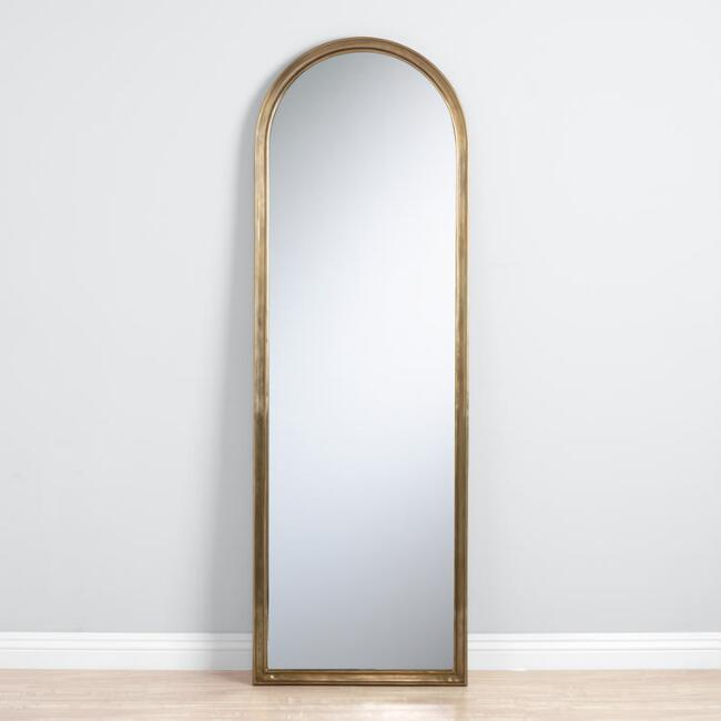 Arched Gold Full Length Mirror