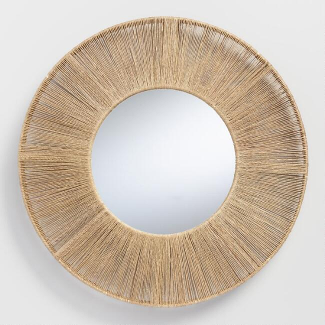 Round Jute Frame Mirror World Market