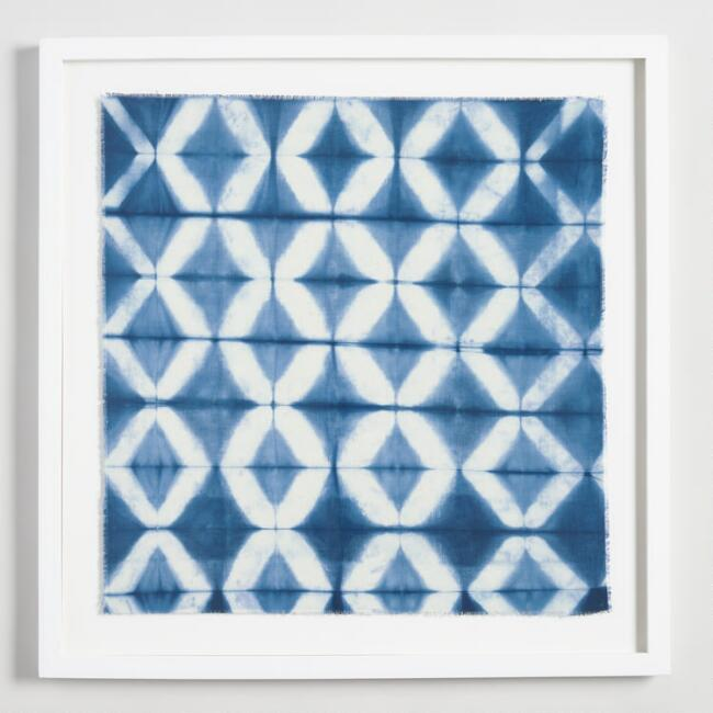Shibori Art II with White Frame