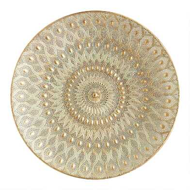 Large Gold Filigree Medallion Wall Decor