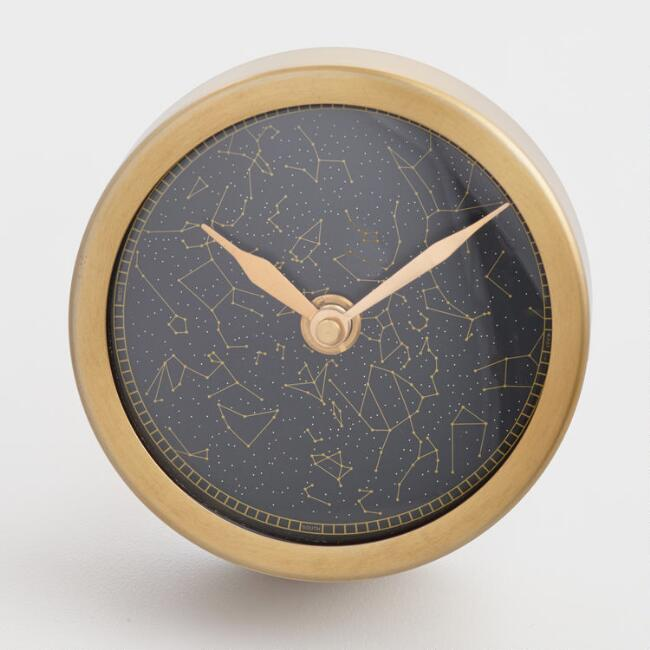 Brass Constellation Clock