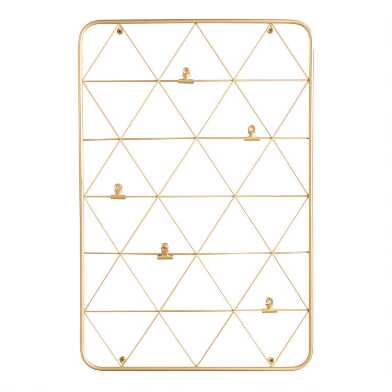 Gold Wire Photo Clip Wall Frame