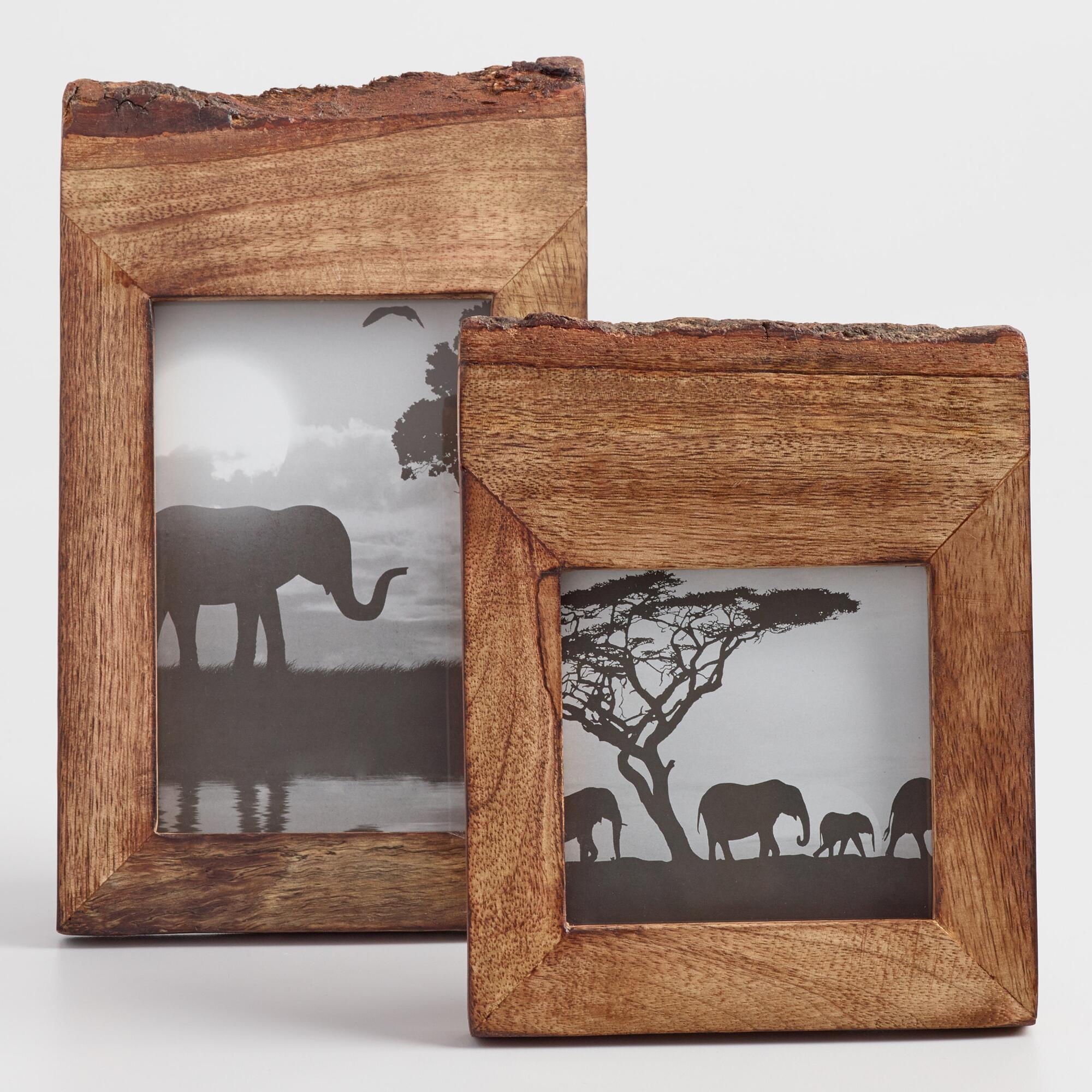 Affordable picture frames wall frames and unique table top frames raw edge wood frame jeuxipadfo Images