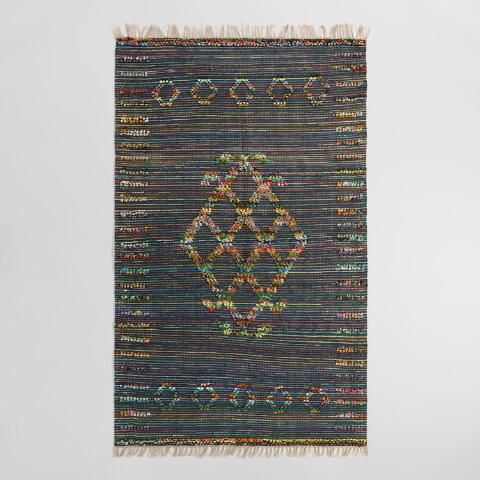 5 X8 Tribal Woven Jute Chindi Nitara Area Rug World Market