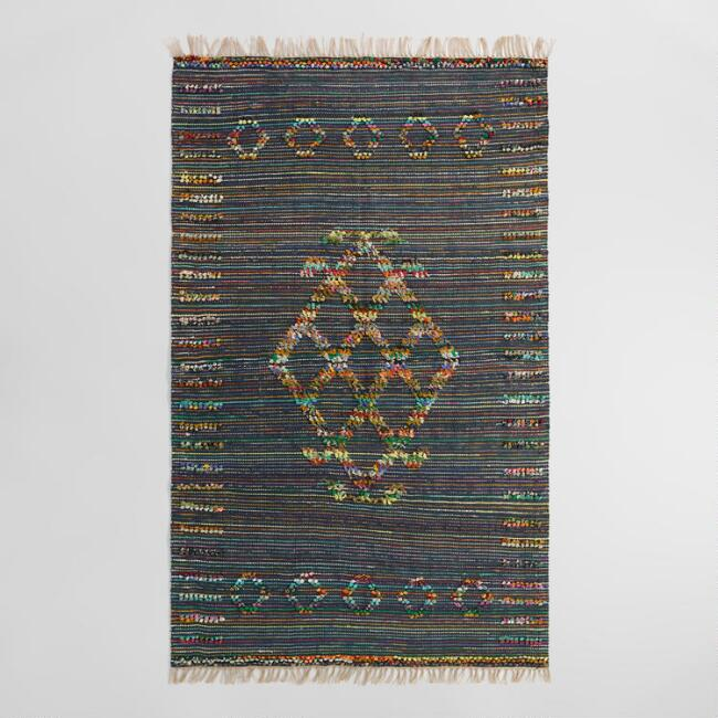 5'x8' Tribal Woven Jute Chindi Nitara Area Rug