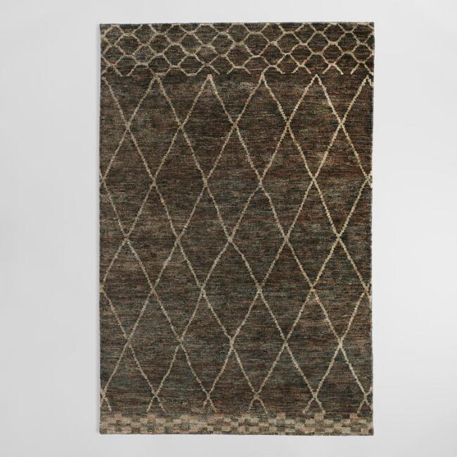 6'x9' Moroccan Style Trellis Washed Jute Area Rug