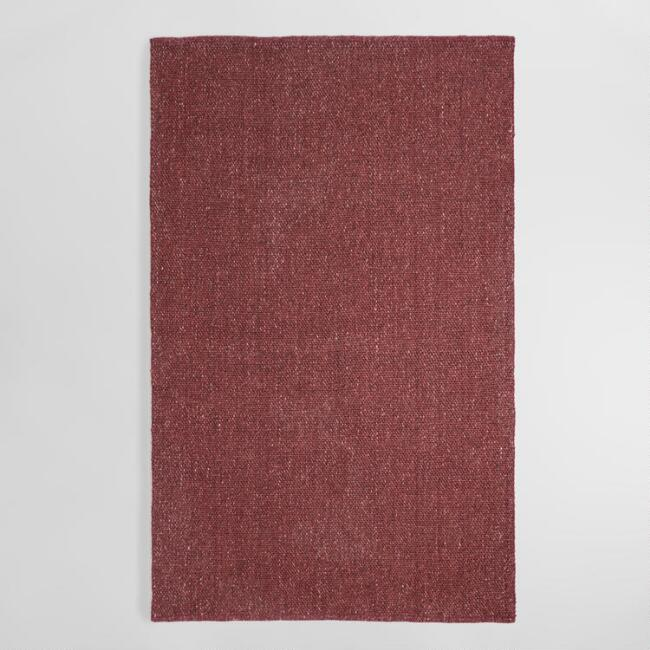 Wine Tonal Sweater Wool Emilie Area Rug