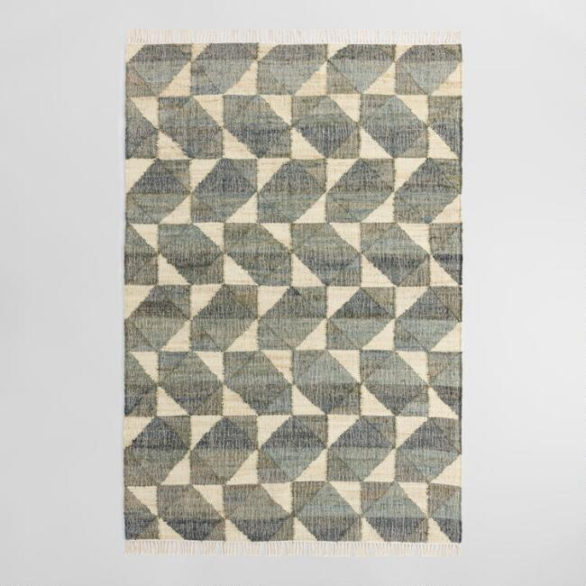 Geo Print Jute And Cotton Morrison Area Rug