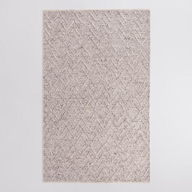 Ivory and Brown Chunky Sweater Seren Area Rug