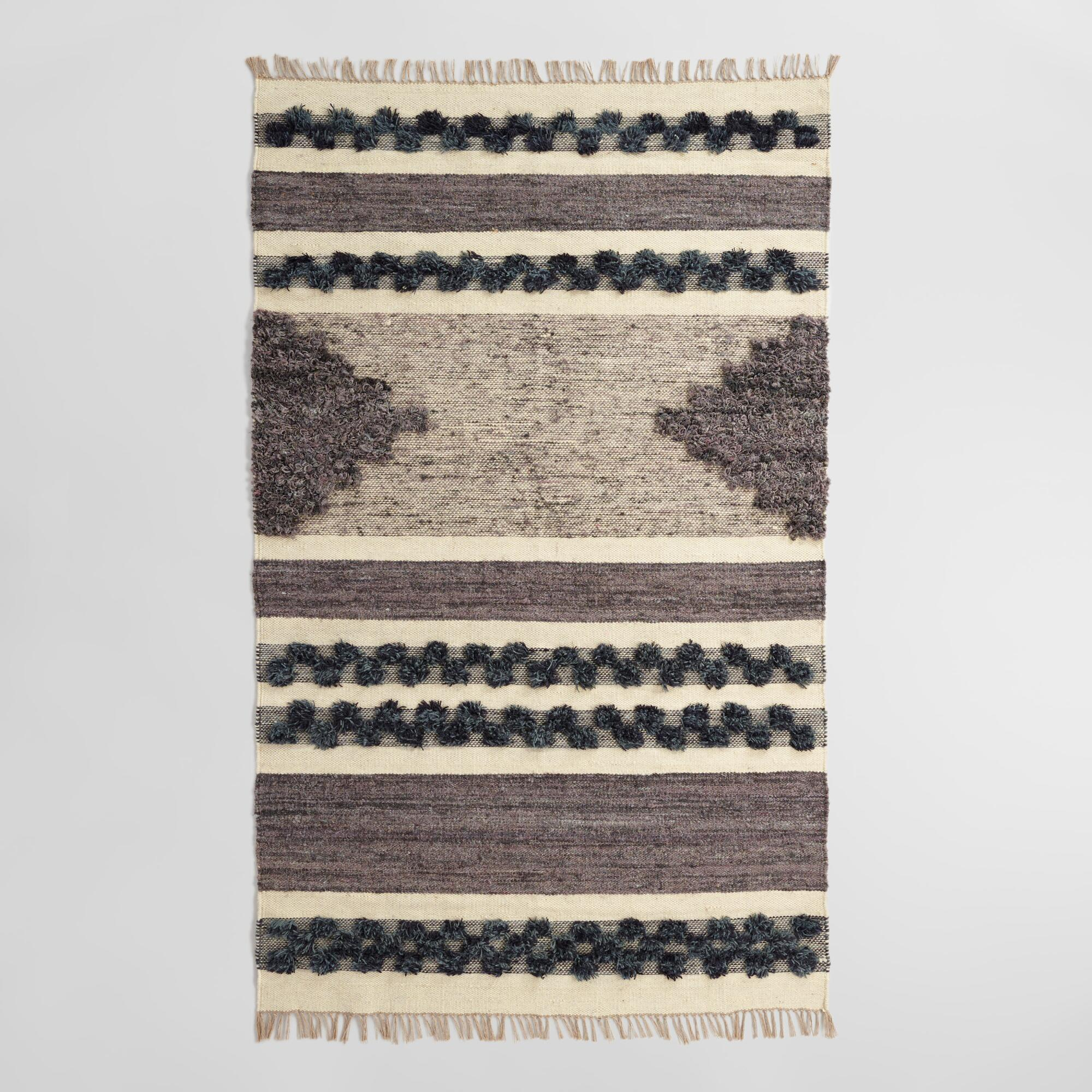 Rugs Mats Long Floor Runners Area Rugs World Market - Black and white tweed bath rug for bathroom decorating ideas