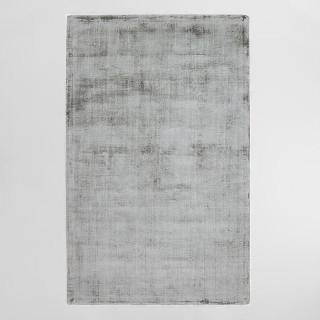 Gray Tonal Tufted Viscose Gable Area Rug