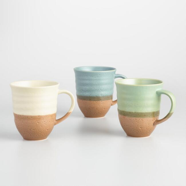 Two Tone Organic Mugs Set of 3