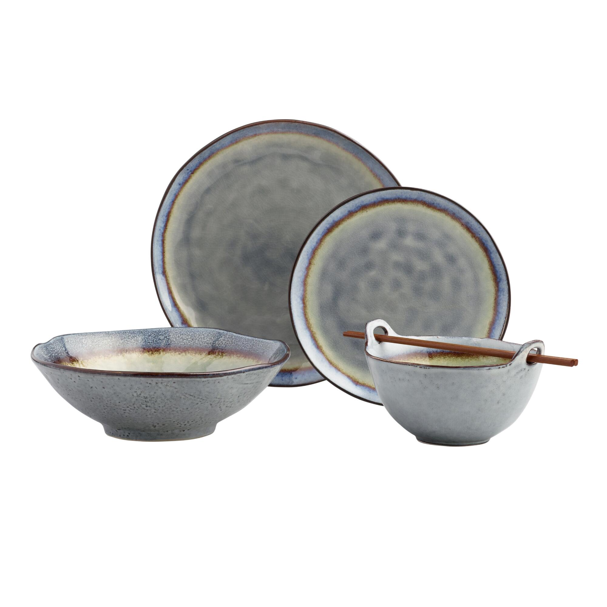 Gray Reactive Glaze Dinnerware Collection by World Market