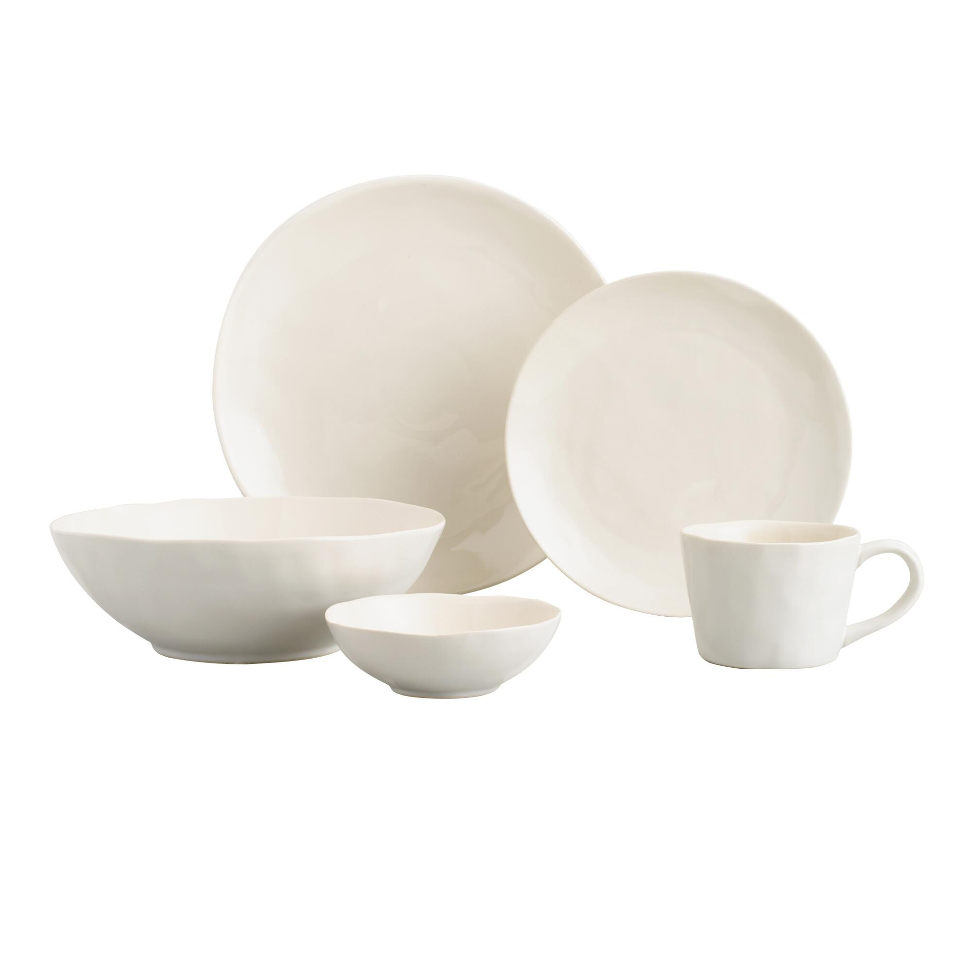 Ivory Element Stoneware Collection by World Market