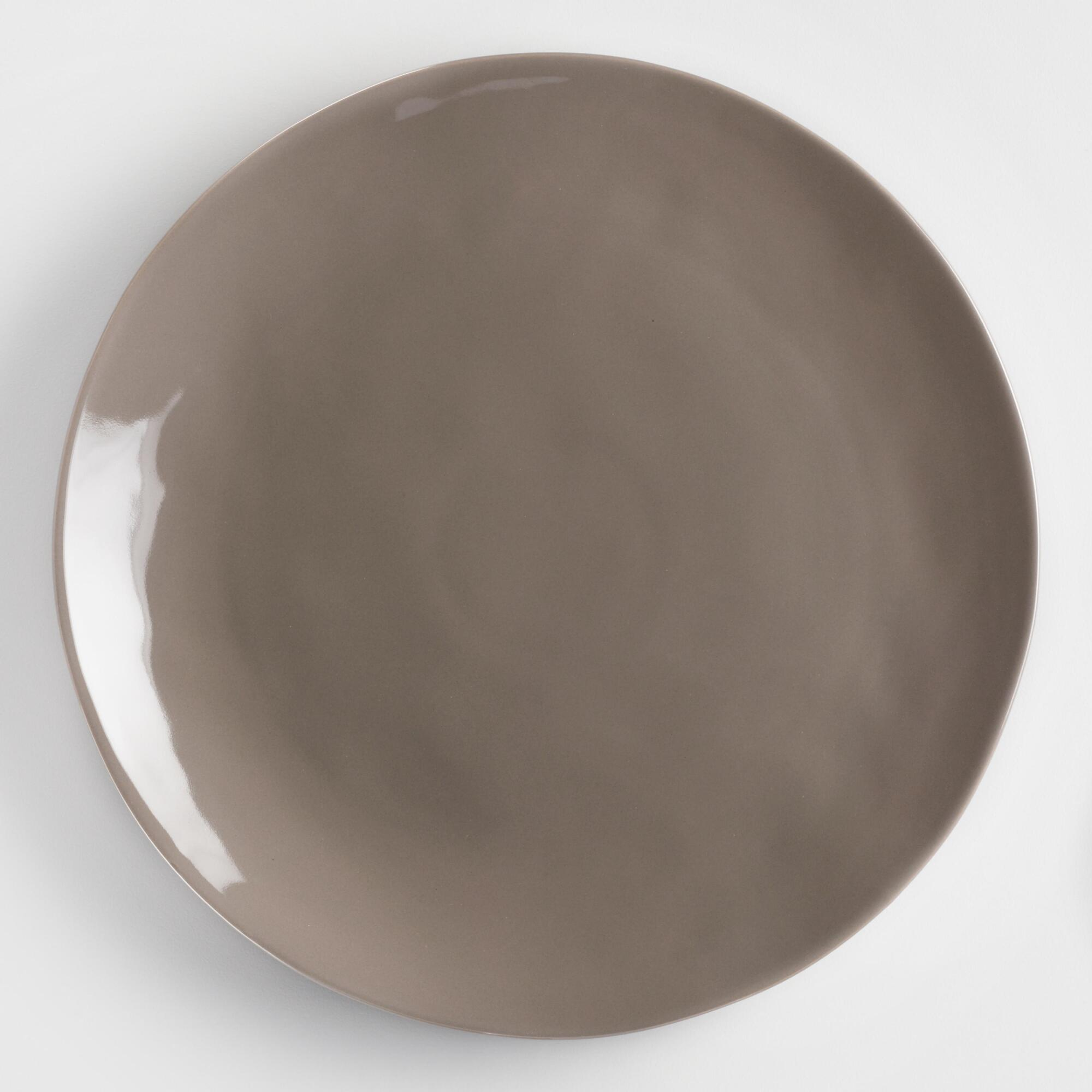 Charcoal Element Dinner Plates Set of 4: Gray - Stoneware by World Market