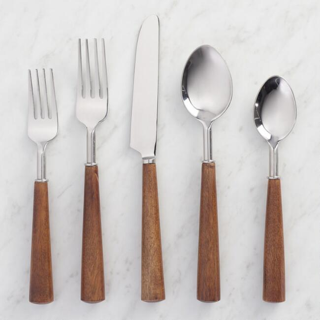 Wood Handle Flatware Collection