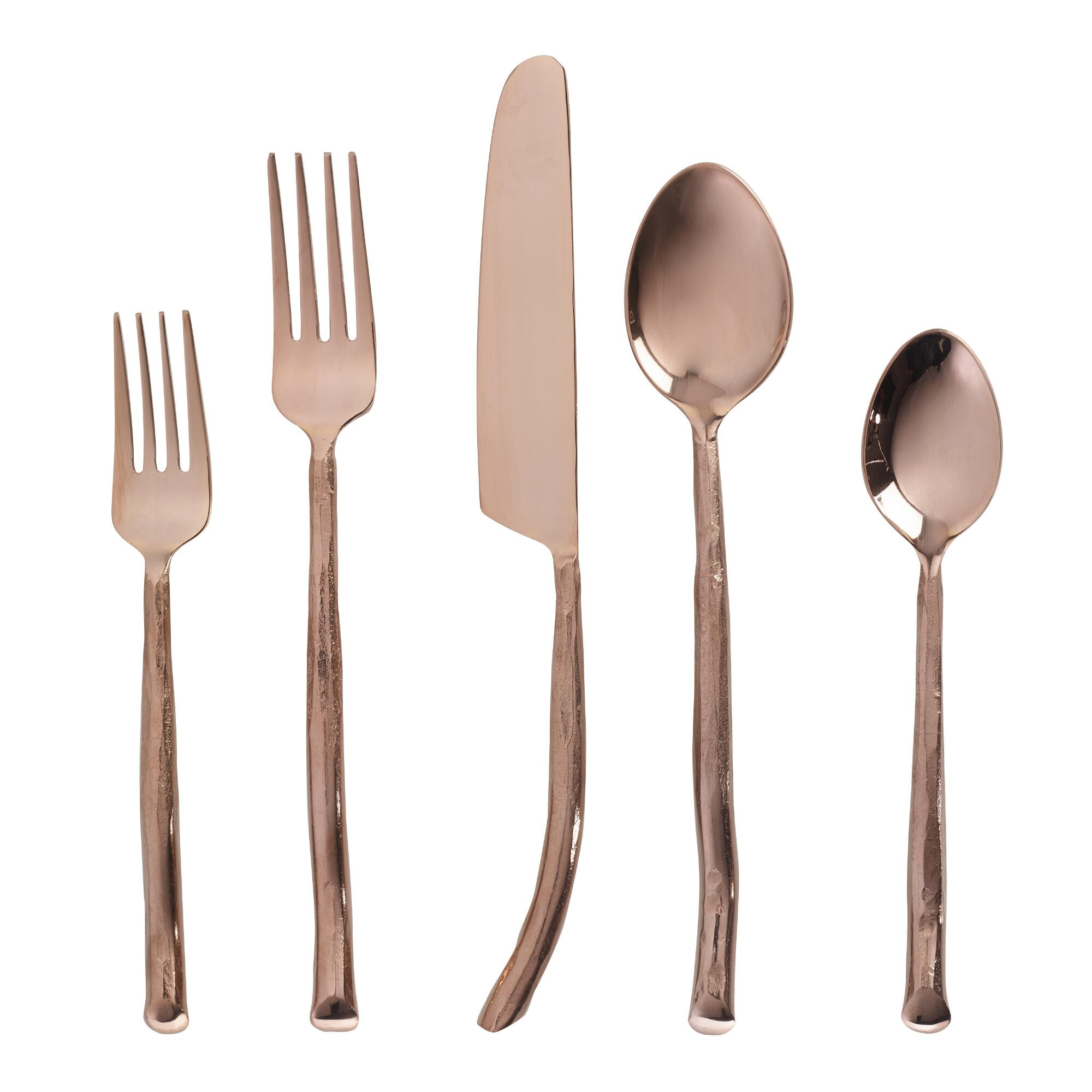 Rose  Gold Twig  Flatware Collection by World Market