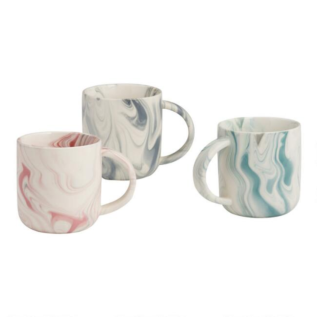 Marble Mugs Set of 3
