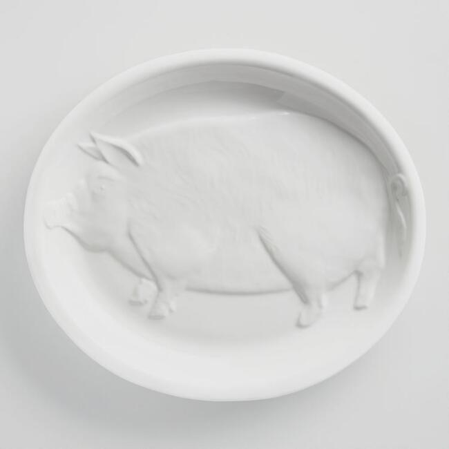 White Oversized Boar Platter