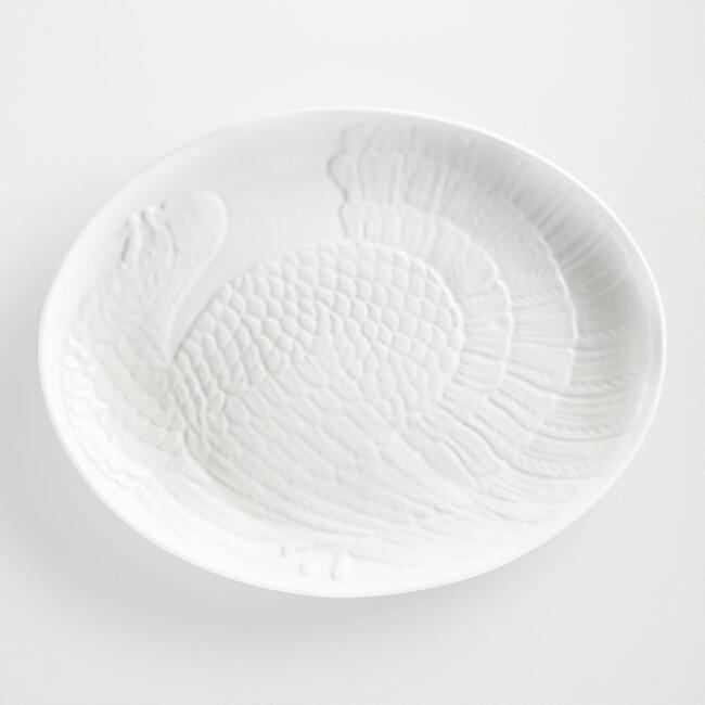 White Oversized Turkey Platter