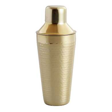 Hammered Gold Cocktail Shaker