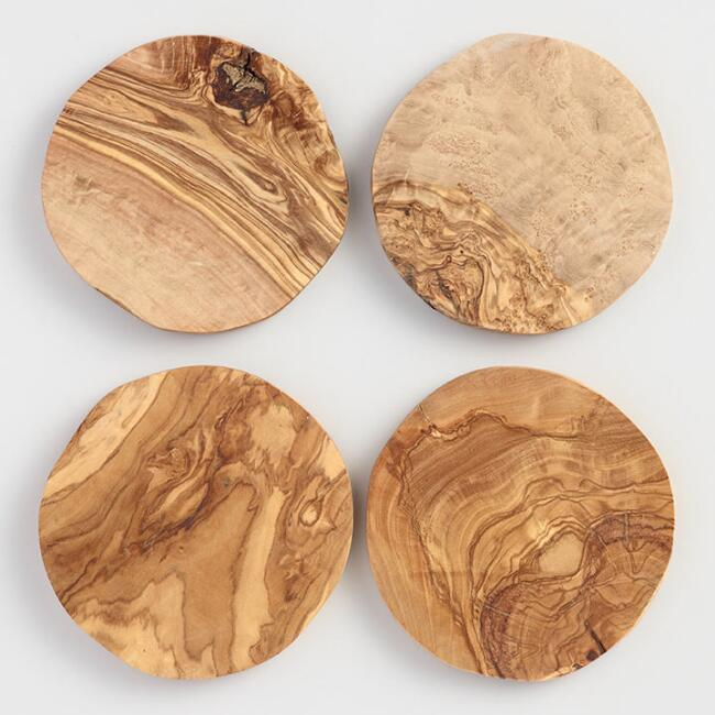 Olivewood Coasters Set of 4