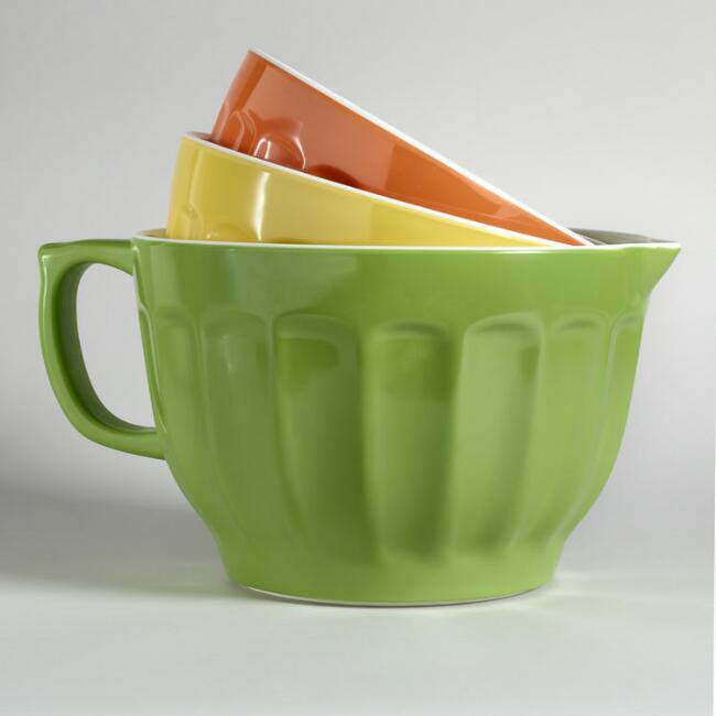 3-Piece Melamine Mixing Bowl Set