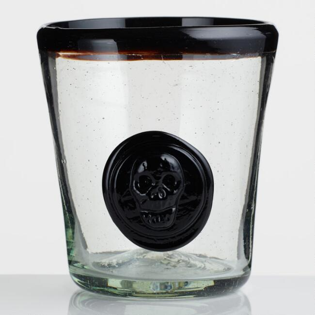 Skull Double Old Fashioned Glasses Set of 6