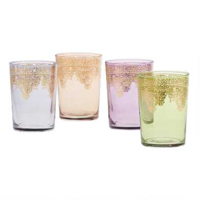 Moroccan Double Old Fashioned Glasses Set of 4