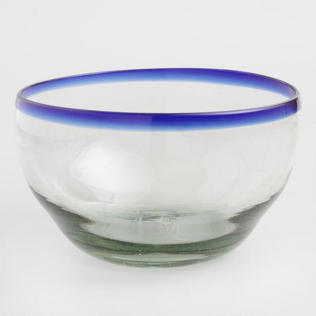 Blue Rocco Serving  Bowl