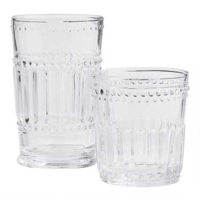Clear Pressed Glass Glassware Collection