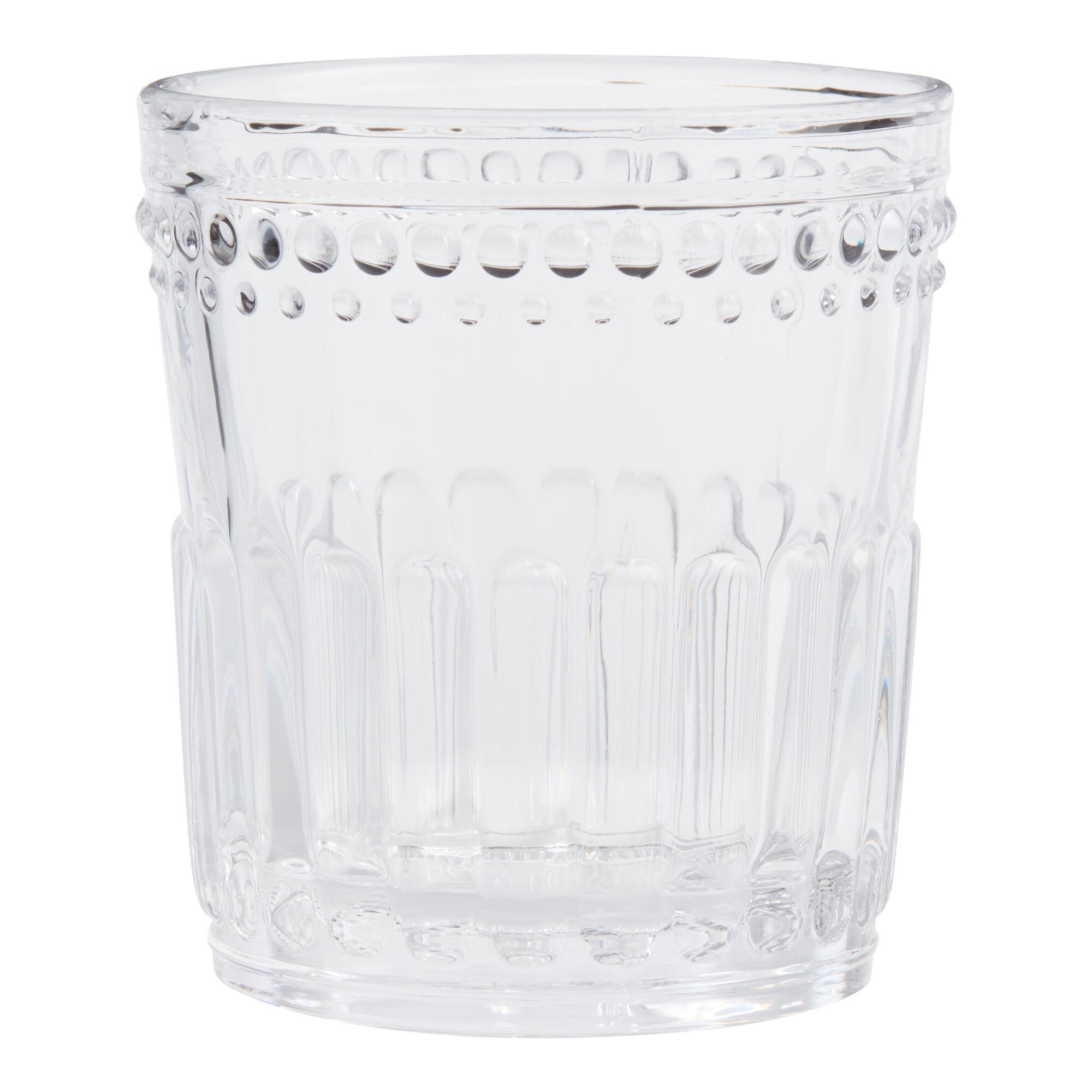 Clear Pressed Glass Double Old Fashioned Glasses Set of 4 by World Market