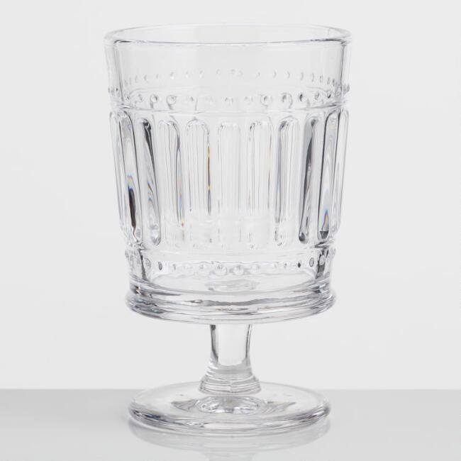 Clear Pressed Glass Goblets Set of 4