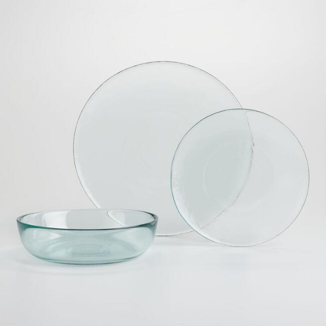 Green Recycled Glass Dinnerware Collection